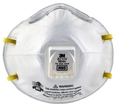 3m particulate respirator 8210v n95 front